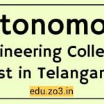 autonomous colleges in telangana eamcet