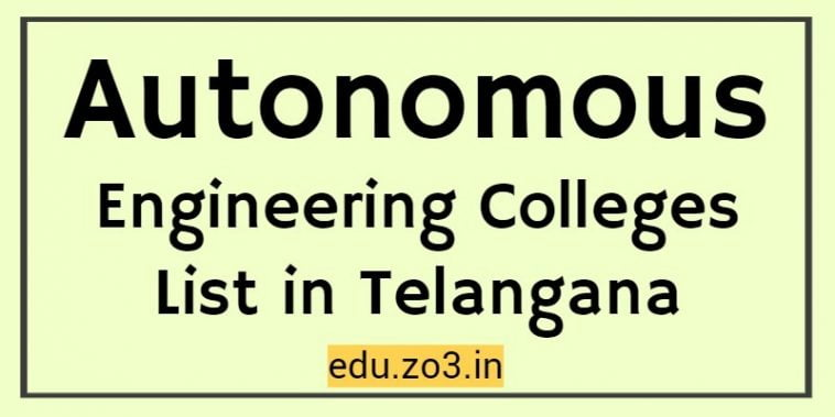 autonomous colleges in telangana eamcet