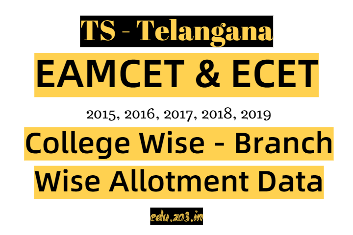 TS ECET EAMCET College wise branch wise allotment data